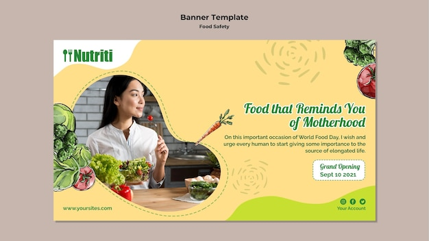 Modèle de bannière de sécurité alimentaire