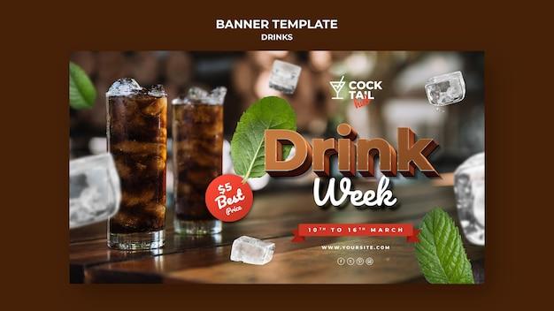 Modèle de bannière de semaine de boisson