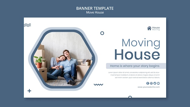Modèle de bannière de service de déménagement de maison