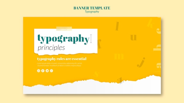 Modèle de bannière de service de typographie