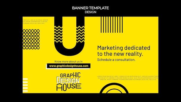 Modèle de bannière de services de conception graphique