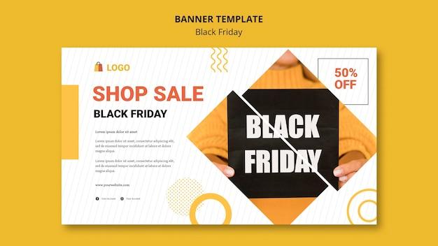 Modèle de bannière shopping vendredi noir
