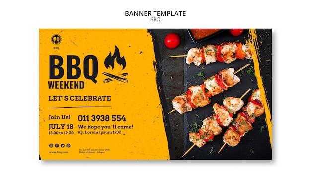 Modèle de bannière de soirée barbecue