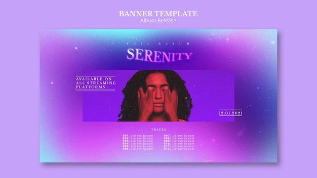 Modèle de bannière de sortie d'album