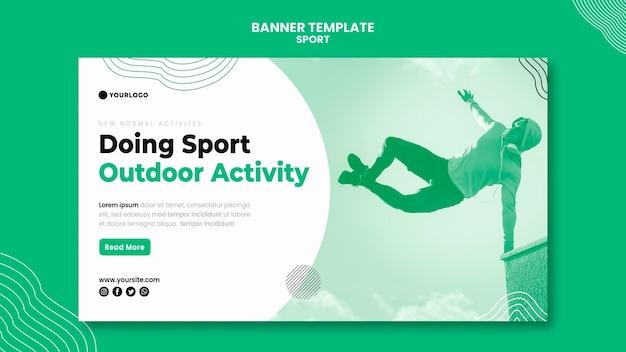 Modèle de bannière de sport