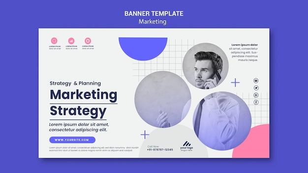 Modèle de bannière de stratégie marketing
