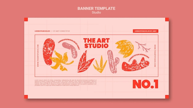 Le modèle de bannière de studio d'art