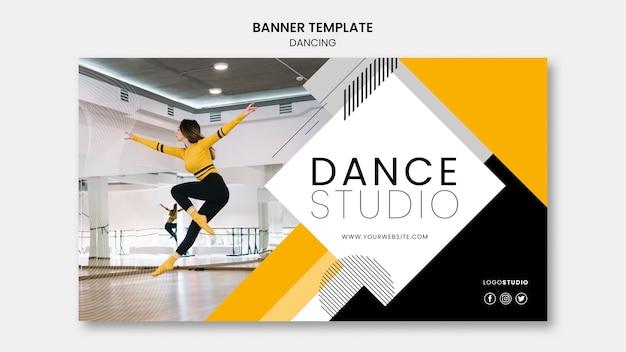 Modèle de bannière avec studio de danse