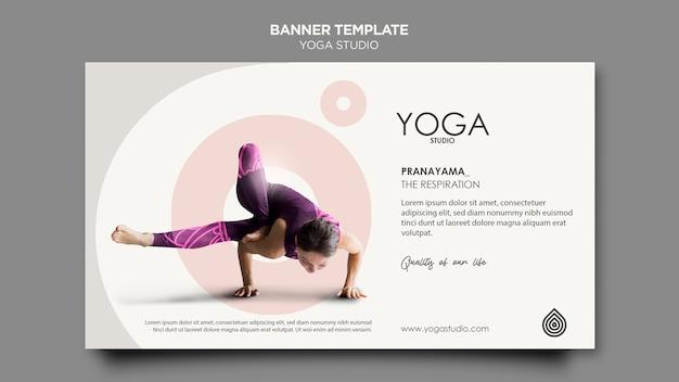 Modèle de bannière de studio de yoga