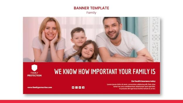 Modèle de bannière avec style familial