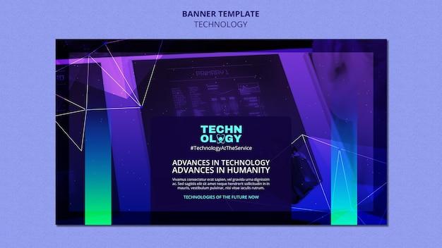 Modèle de bannière de technologie de dégradé