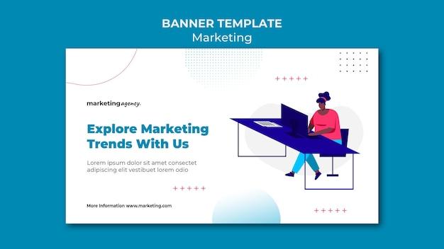 Modèle de bannière de tendances marketing
