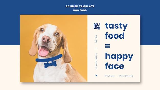 Modèle de bannière avec thème de nourriture pour chiens