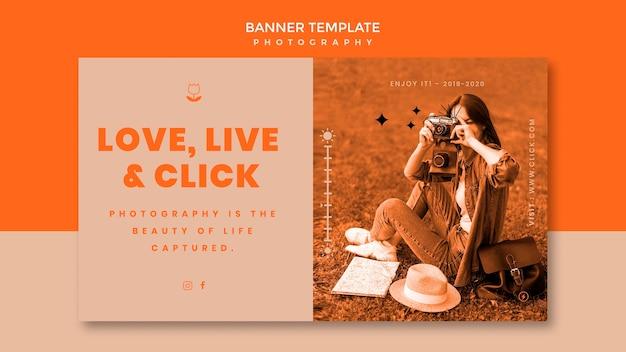 Modèle de bannière de tir de photographie