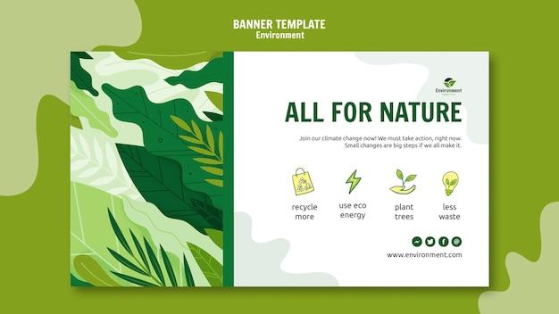Modèle de bannière tout pour la nature