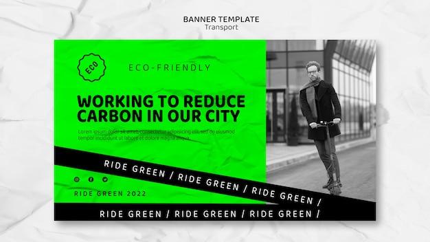 Modèle de bannière de transport écologique