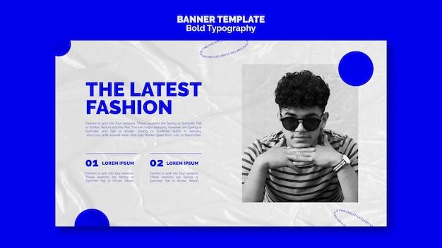 Modèle de bannière de typographie audacieuse