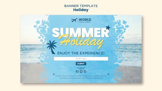 Modèle de bannière de vacances