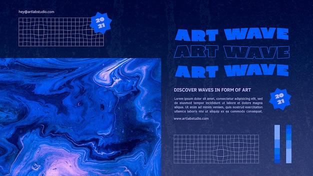 Modèle de bannière de vague d'art