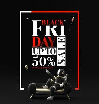 Modèle de bannière de vente du vendredi noir
