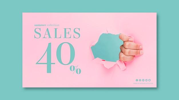 Modèle de bannière de vente avec image