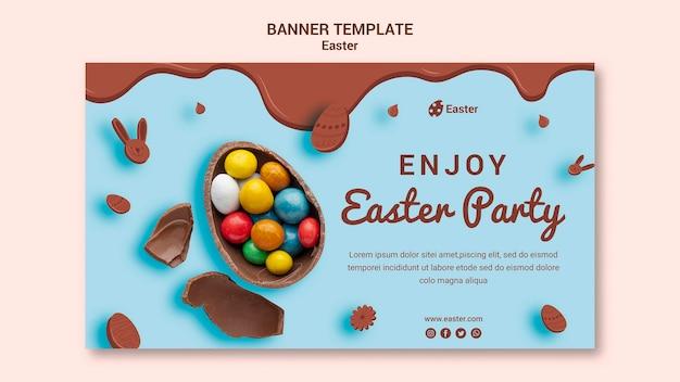 Modèle de bannière de vente de jour de pâques
