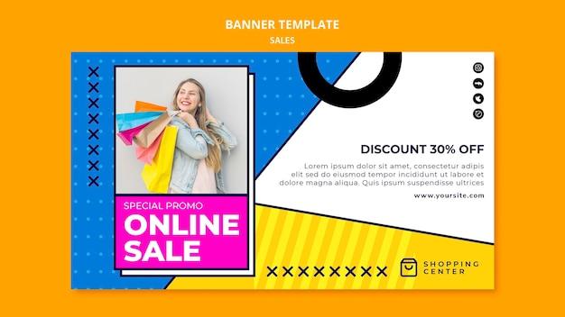 Modèle de bannière de vente en ligne