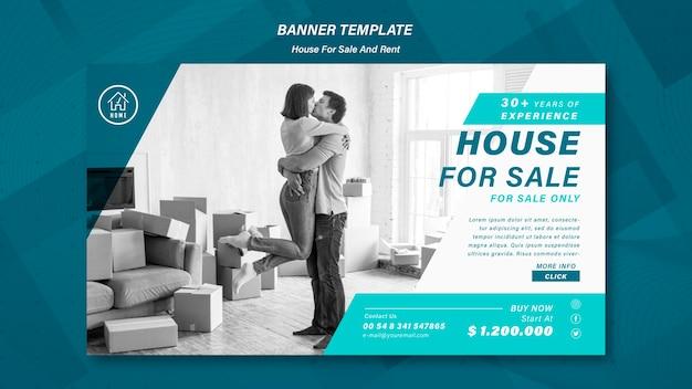 Modèle de bannière de vente de maison