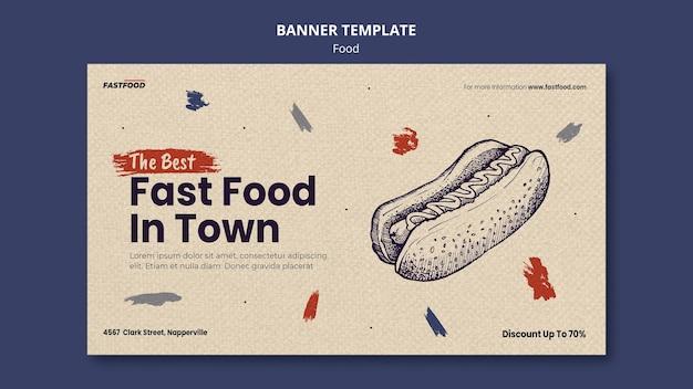 Modèle de bannière de vente de nourriture