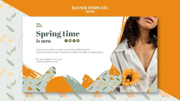 Modèle de bannière avec vente de printemps