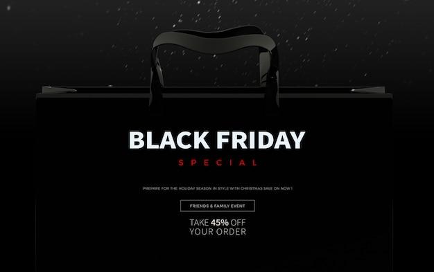 Modèle de bannière de vente spéciale black friday