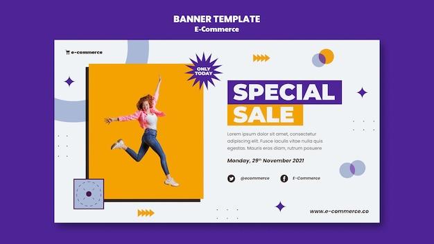 Modèle de bannière de vente spéciale de commerce électronique