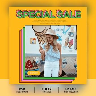 Modèle de bannière de vente spéciale