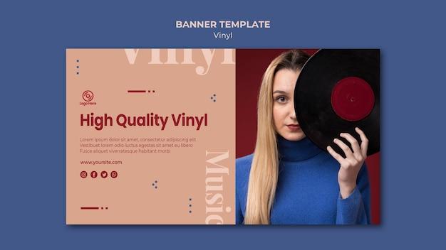 Modèle de bannière en vinyle de haute qualité