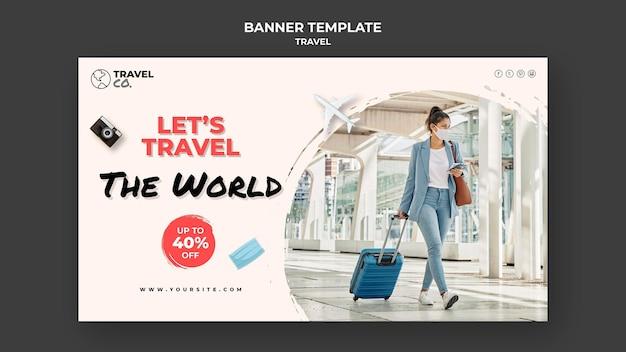 Modèle de bannière de voyage