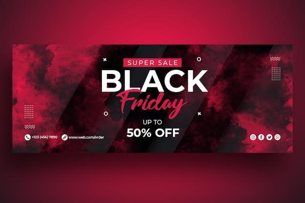 Modèle de bannière web black friday sale
