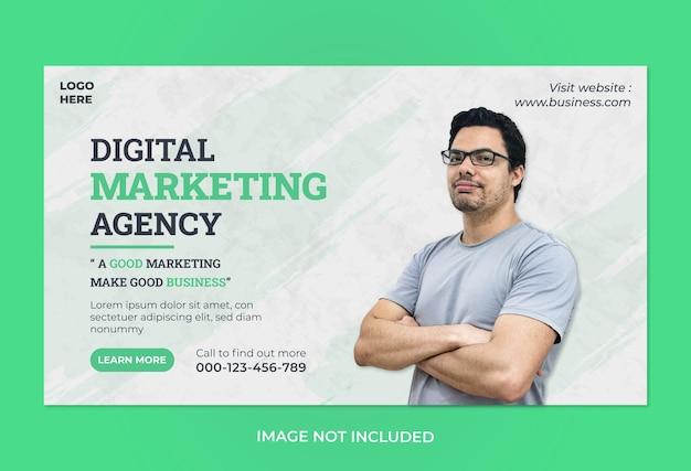 Modèle de bannière web d'entreprise de marketing d'entreprise