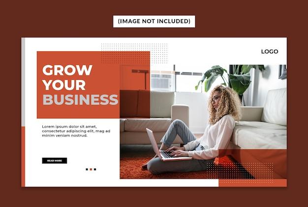 Modèle de bannière web entreprise