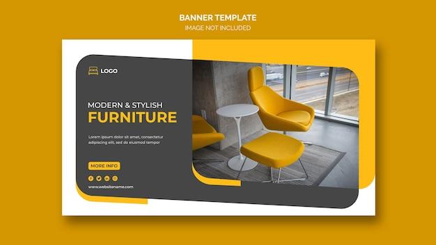 Modèle de bannière web de meubles