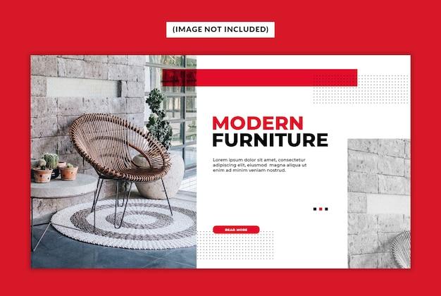 Modèle de bannière web de mobilier moderne