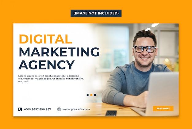 Modèle de bannière web pour agence de marketing numérique