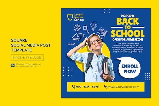 Modèle de bannière web pour publication sur les médias sociaux