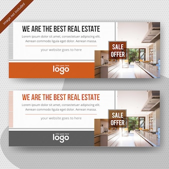 Modèle de bannière web promotionnelle immobilière