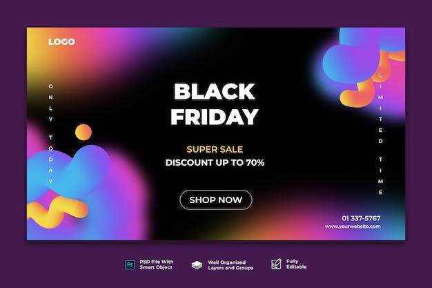 Modèle de bannière web vendredi noir