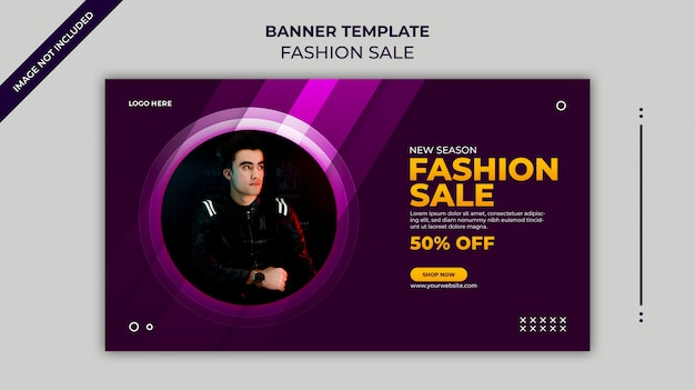 Modèle de bannière web de vente de mode nouvelle saison ou modèle de bannière instagram
