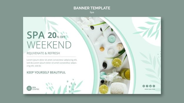 Modèle de bannière de week-end spa
