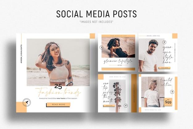 Modèle de bannières commerciales de médias sociaux