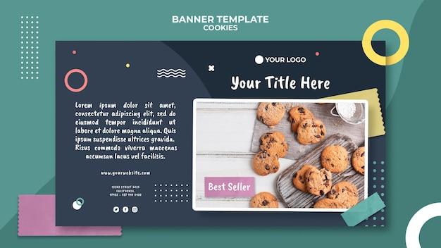 Modèle de boutique de biscuits de bannière