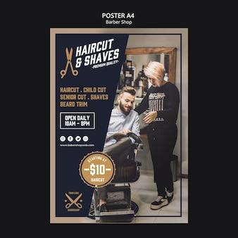 Modèle de boutique de coiffeur flyer