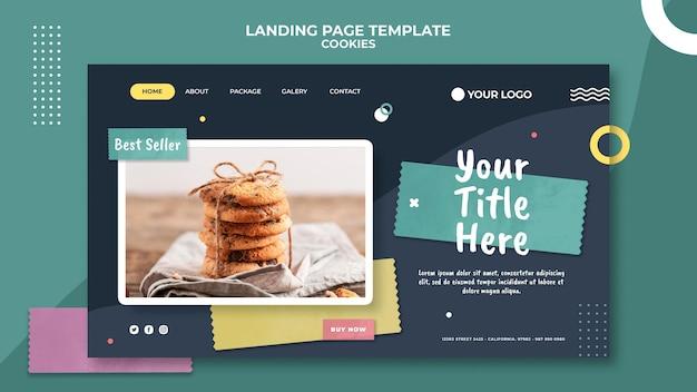 Modèle de boutique de cookies de page de destination